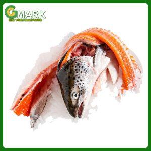 bộ đầu và xương cá hồi nauy