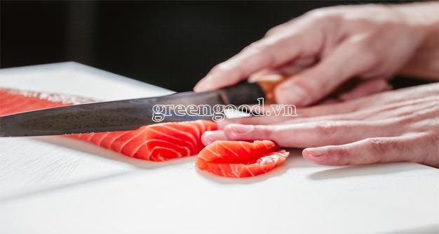 fillet cá hồi sashimi